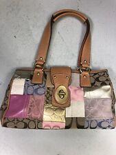 COACH  Patchwork Signature Multi-Color Satchel  F-13335 Handbag