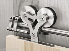 2M Modern Stainless Steel Sliding Door Barn Door Hardware Track Set  (S21)