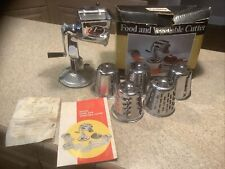 Foodco Deluxe Vintage Food And Vegetable Cutter E-Z 506Cr