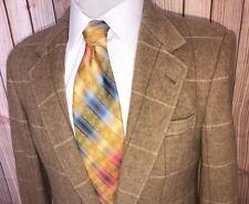 Allen Solly Beige Brown 100% Cashmere Two Button Sports Coat Size Men's Sz 38 S