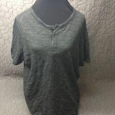 Men's Merona Henley Charcoal  T-Shirt Size XL