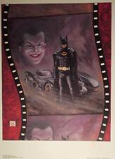 BATMAN 1989 KEATON NICHOLSON BOB KANE HAND SIGNED W COA 50TH ANN THE LEGEND DC