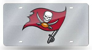 Tampa Bay Buccaneers NFL Silver Laser Tag By Rico Ind.