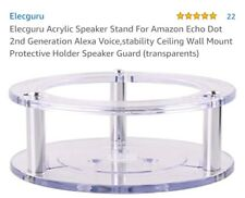 Amazon Echo Dot 2nd Generation Transparent Guard Mount Smart Speaker Stand