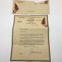Old Coca-Cola letter on Coke letterhead 1928
