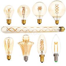 Bombilla LED E27 E14 Lámpara De Colección Retro Antiguo Regulable Bombillas de filamento Edison