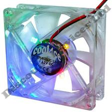 80mm/80x80x25mm 12V Computer/PC/CPU Silent Cooling Case Fan 4x Color LED Light