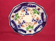 Staffordshire Gaudy Welsh Ironstone Grape Cluster Leaf Plate Unusual Ca. 1840