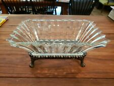 F B ROGERS SILVER CO. 1152  COMPOTE DISH CENTERPIECE FLORAL FOOD DECOR 5.25X11