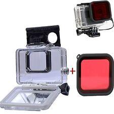 Submersible Boîtier Étanche Étui + Diving Lens Filtre Pour Gopro Hero 5 Caméra