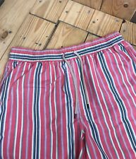 Men's Red Striped Polo by Ralph Lauren Swim Shorts Medium M Trunks Lined A