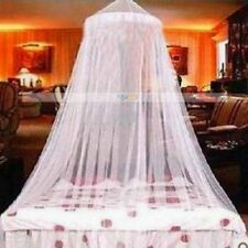 Mosquito Net for Bed Queen Size Jumbo Princess White Canopy Lace Curtain Netting