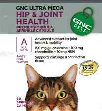 Cat Supplement.GNC Hip & Joint Health for All Cats- Fish Flavor 貓骨骼補充品. 藥丸裝60粒魚味
