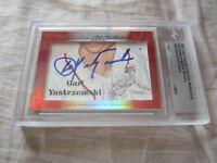 Carl Yastrzemski Dick Williams 2017 Leaf Masterpiece Cut Signature 1/1 card JSA