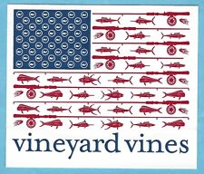 NEW AUTHENTIC VINEYARD VINES FISH AMERICAN FLAG WHALE STICKER DECAL