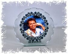 More details for cliff richard diamante cut glass round plaque gift , any occasion memorabilia #1