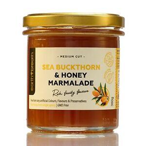 SEA BUCKTHORN & HONEY MARMALADE 380g PURE Natural free from Gelatine & Sugar