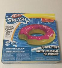 Wham-o Inflatable Pink Donut Ring Pool Toy Summer Float 35inch Age 4+ NWT