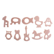 Wooden Safe Natural Cute Animal Shape Ring Baby Teether Teething Cute Shower~SP
