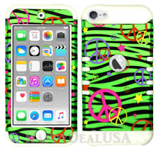 For Apple iPod Touch iTouch 5 | 6 - KoolKase Hybrid Cover Case Peace Zebra Green