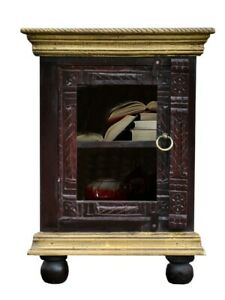 Brass Work Indian Solid Wood Cupboard Bedside Table (Made To Order)