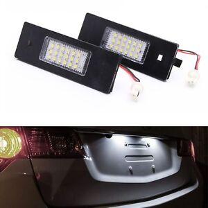 ECLAIRAGE PLAQUE LED BMW SERIE 1 E81 E87 SERIE 6 E63 E64 Z4 E85 E86 BLANC XENON