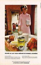 L- Publicité Advertising 1970 Petit dejeuner instantané Ricoré
