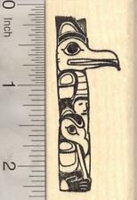 Totem Pole Rubber Stamp, Indigenous peoples, North American, Alaskan E18527 WM