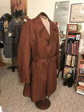Vintage Glossy 1940/50's Houndstooth Yoked Trench/Belted Nos
