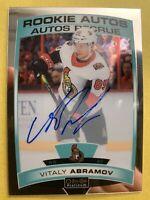2019-20 O-Pee-Chee Platinum Rookie Autos #R-VA Vitaly Abramov Ottawa Senators RC