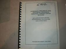 Toyoda CNC Lathe GT52L Hydraulic Pneumatic & Electrical Manual