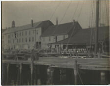 PHOTO PICTORIALISM WHARF WITH SHIPS MAST.