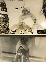 Vintage photo #31 Girl in scarf Crying baby Real Photos Russian CHILDREN 70s