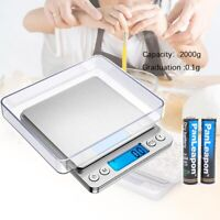 0.1g Electronic Digital Kitchen Food Cooking Weight Balance Scale Accurate 3000g