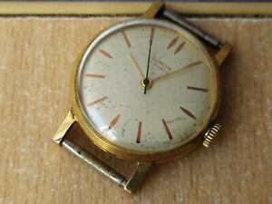 RARE old Vintage Soviet Watch 15 Jewel Junior AU 10 USSR Gold Plated cal. 2009 Г
