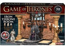 GAME OF THRONES Building Set IRON THRONE ROOM with 2 Micro figure MIB 314 pieces