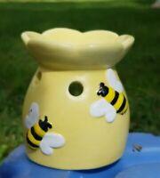 """Bee"" Ceramic Wax Melt Warmer Oil Burner Fragrance Tealight Candle Holder"