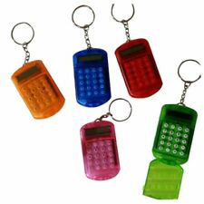 Battery Powered 8 Digits LCD Mini Calculator with Key buckle J7Z5