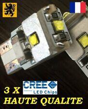 2 T10 W5W PREMIUM LED HP 3x CREE XB 220Lm 5500k Blanc Jour 12V 1,5W Compact Flip