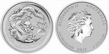 2012 Australia 1 oz Silver Lunar Dragon with Lion Privy (from mint roll)