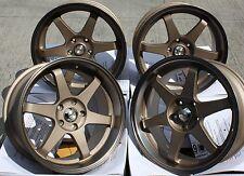 "19"" Cerchi in Lega Bronzo GTR si adatta NISSAN SKYLINE GTST GTR GTT 200 300zx 350z s14"