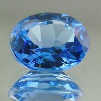 LARGE 18x13mm OVAL-FACET SWISS-BLUE NATURAL BRAZILIAN TOPAZ GEMSTONE (APP £201)