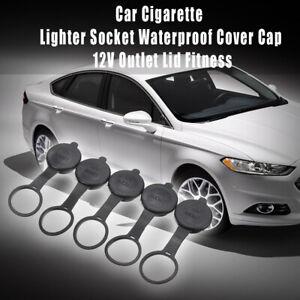 5 x Waterproof Car Cigarette Lighter Socket  Cover Cap 12V Outlet Lid Fitness