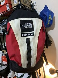 North Face X Supreme expedition travel backpack Bag Travel USED✅ FAST SHIPPING