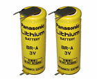 2Pcs Panasonic BR-A 3V CR17450 Battery W/3P tabs For PLC backup power