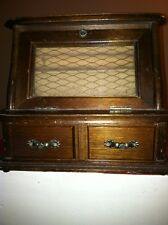 RARE Antique vintage musical jewelry box,7.5inches high,8.5 inches wide