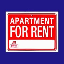 "1 Sign  APARTMENT FOR RENT  Flexible Heavy  Plastic  Sheet  9"" x 12"""