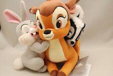 """Disney Store Japan Bambi Flower Thumper Plush Doll Hug & Smile H 8.2"""" x W 9"""" F/S"""
