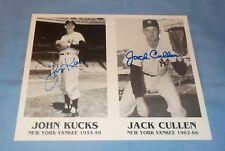 NY Yankees Johnny Kucks & Jack Cullen Dual Signed Autographed 8x10 Photo Rare