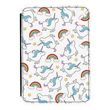 Unicornios & Arco Iris Diseño Kindle Paperwhite Toque PU Funda Libro de Piel
